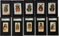 Non-Sport Cards:Sets, 1888 N2 A&G Indian Chiefs Complete Set (50) Plus SilksCollection (40). ...