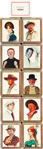 "Movie Posters:Western, Stagecoach (20th Century Fox, 1966). Portrait Cards (10) (13.5"" X16.5"").. ... (Total: 10 Items)"