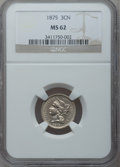 Three Cent Nickels: , 1875 3CN MS62 NGC. NGC Census: (15/177). PCGS Population (9/135).Mintage: 227,300. Numismedia Wsl. Price for problem free ...