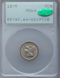 Three Cent Nickels: , 1875 3CN MS64 PCGS. CAC. PCGS Population (59/44). NGC Census:(96/55). Mintage: 227,300. Numismedia Wsl. Price for problem ...