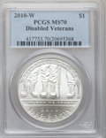 Modern Issues, 2010-W $1 Disabled Veterans MS70 PCGS. PCGS Population (1465). NGCCensus: (3233). Numismedia Wsl. Price for problem free ...