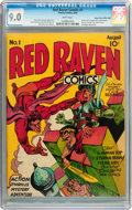 Golden Age (1938-1955):Superhero, Red Raven Comics #1 Mile High pedigree (Timely, 1940) CGC VF/NM 9.0 White pages....