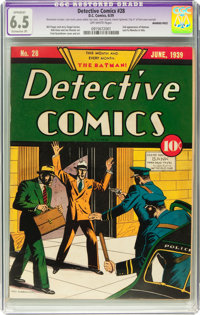 Detective Comics #28 (DC, 1939) CGC Apparent FN+ 6.5 Extensive (P) Off-white pages