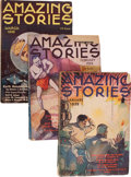 Pulps:Science Fiction, Amazing Stories Box Lot (Ziff-Davis, 1935-38) Condition: AverageVG+....
