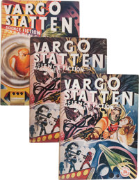 Vargo Statten Magazine #1 and 2 Group, with Printer's Dummy (Scion Limited, 1954) Condition: Average FN.... (Total: 3 )