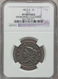 Large Cents: , 1823/2 1C --Improperly Cleaned-- NGC Details. VF. N-1. NGC Census:(2/28). PCGS Population (6/39). Mintage: 1,262,000. Numi...