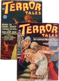 Pulps:Horror, Terror Tales Group (Popular, 1935-39) Condition: Average VG/FN....(Total: 2 )