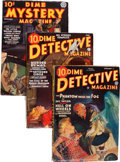 Pulps:Detective, Dime Detective/Dime Mystery Magazine Group (Popular, 1935-40)Condition: Average VG.... (Total: 4 )
