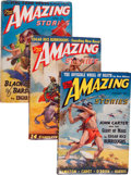 Pulps:Science Fiction, Amazing Stories Edgar Rice Burroughs Group (Ziff-Davis, 1941)Condition: Average VG/FN.... (Total: 5 )
