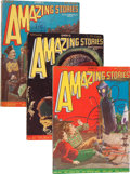 Pulps:Science Fiction, Amazing Stories Group (Ziff-Davis, 1928) Condition: Average VG....(Total: 11 )