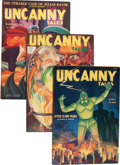 Pulps:Science Fiction, Uncanny Tales Group (Adam, 1941-42) Condition: Average FN+....(Total: 9 Items)