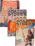 Pulps:Science Fiction, Amazing Stories Box Lot (Ziff-Davis, 1933-34) Condition: AverageVG-....