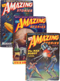 Pulps:Science Fiction, Amazing Stories Box Lot (Ziff-Davis, 1944-48) Condition: AverageVG....