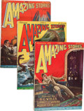 Pulps:Science Fiction, Amazing Stories Group (Ziff-Davis, 1927) Condition: Average VG+....(Total: 12 )