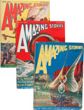 Pulps:Science Fiction, Amazing Stories Group (Ziff-Davis, 1926) Condition: VG-.... (Total:8 )