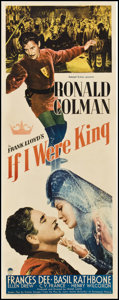 "Movie Posters:Adventure, If I Were King (Paramount, 1938). Insert (14"" X 36""). Adventure....."