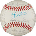 Autographs:Baseballs, 1973 New York Mets Team Signed Baseball....