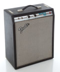 Musical Instruments:Amplifiers, PA, & Effects, Circa Late 1970's Fender Music Master Bass Silverface GuitarAmplifier, Serial #A08099....