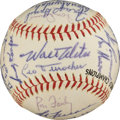 Autographs:Baseballs, 1963 Los Angeles Dodgers Team Signed Baseball....