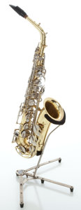 Musical Instruments:Horns & Wind Instruments, Yamaha YAS-21 Brass Alto Saxophone, Serial #044974 A....