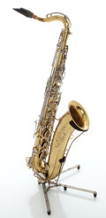 Musical Instruments:Horns & Wind Instruments, Circa 1929 The Martin Imperial Brass Tenor Saxophone, Serial #885587....