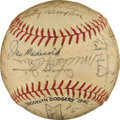 Autographs:Baseballs, 1942 Brooklyn Dodgers Team Signed Baseball....
