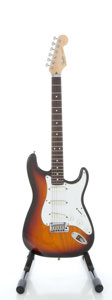 Musical Instruments:Electric Guitars, 1990 Fender Stratocaster Plus U.S.A. Sunburst Solid Body Electric Guitar, Serial #N000554....