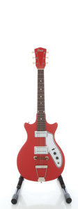 Musical Instruments:Electric Guitars, Circa 1966 Supro Tosca Red Solid Body Electric Guitar, Serial #1-27883....