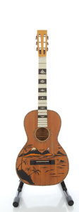 Musical Instruments:Acoustic Guitars, Circa 1940's Regal Style Parlor Natural Acoustic Guitar...