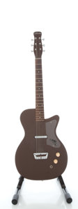 Musical Instruments:Electric Guitars, Circa Early 1960's Silvertone U-1 Brown Solid Body Electric Guitar...