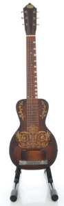 Musical Instruments:Lap Steel Guitars, Circa 1950's Oahu Tonemaster Model Mahogany Lap Steel Guitar....