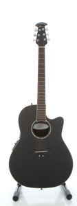 Musical Instruments:Acoustic Guitars, Ovation Celebrity GC 057 Black Acoustic Electric Guitar, Serial#8509779....