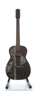 Musical Instruments:Acoustic Guitars, Circa 1940's Supertone Black Acoustic Guitar, Serial #9469....