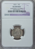 Bust Dimes, 1825 10C -- Improperly Cleaned -- NGC Details. AU. NGC Census:(4/72). PCGS Population (4/53). Mintage: 410,000. Numismedia...