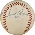 Autographs:Baseballs, 1950's-60's National League MVP's Multi-Signed Baseball with Clemente....