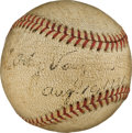 Autographs:Baseballs, 1936 Arky Vaughan Single Signed Baseball--The Only Known Example....