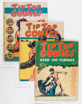 Platinum Age (1897-1937):Miscellaneous, Tip Top Comics Group (United Features Syndicate, 1936-39) Condition: Apparent FR/GD.... (Total: 4 Comic Books)