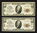 National Bank Notes:Kentucky, Louisville, KY - $10 1929 Ty. 1 The NB of Kentucky Ch. # 5312, TwoExamples.. ... (Total: 2 notes)