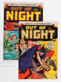 Golden Age (1938-1955):Horror, Out of the Night #9 and 10 Group (ACG, 1953).... (Total: 2 ComicBooks)