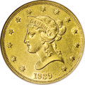 Liberty Eagles: , 1839 $10 Type of 1838, Large Letters AU58 NGC. Easily distinguished from the Type of 1840, also known as the Small Letters,...