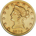 Liberty Eagles: , 1860-S $10 AU55 NGC. In the early years of San Francisco Mint goldproduction, far more attention was given to the minting ...
