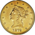 Liberty Eagles: , 1879-CC $10 AU50 PCGS. With only 1,762 coins minted, this date hasthe lowest mintage of any Carson City Mint eagle, indeed...
