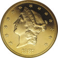 Proof Liberty Double Eagles: , 1887 $20 PR65 Cameo NGC. If the 1849 pattern is excluded, the 1887 is one of the three proof-only dates within the Liberty ...