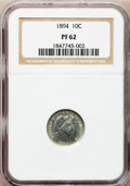 Proof Barber Dimes: , 1894 10C PR62 NGC. NGC Census: (6/240). PCGS Population (31/269).Mintage: 972. Numismedia Wsl. Price for problem free NGC/...