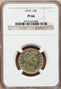 Proof Barber Quarters: , 1910 25C PR66 NGC. NGC Census: (27/32). PCGS Population (16/20). Mintage: 551. Numismedia Wsl. Price for problem free NGC/P...