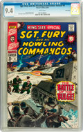 Silver Age (1956-1969):War, Sgt. Fury and His Howling Commandos Annual #4 Twin Cities pedigree (Marvel, 1968) CGC NM 9.4 White pages....