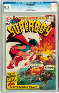 Superboy #167 Twin Cities pedigree (DC, 1970) CGC NM/MT 9.8 White pages