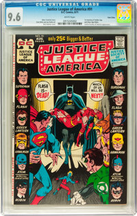 Justice League of America #91 Twin Cities pedigree (DC, 1971) CGC NM+ 9.6 White pages