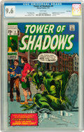 Bronze Age (1970-1979):Horror, Tower of Shadows #9 Twin Cities pedigree (Marvel, 1971) CGC NM+ 9.6White pages....