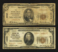 National Bank Notes:Pennsylvania, Shamokin, PA - $5 1929 Ty. 1 The NB of Shamokin Ch. # 6942; $20 1929 Ty. 2 The West End NB Ch. # 12805. ... (Total: 2 notes)